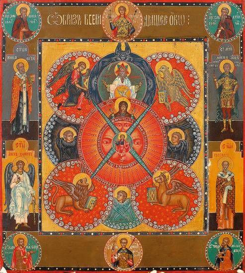 ВСЕВИДЯЩЕЕ ОКО БОЖИЕ Россия, 19 в. 36,5 x 33 см. www.zeller.de Частное собрание 106368