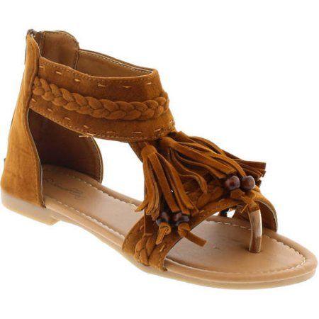 Shoes of Soul Women's Fringe Comfort Sandal, Size: 10, Beige