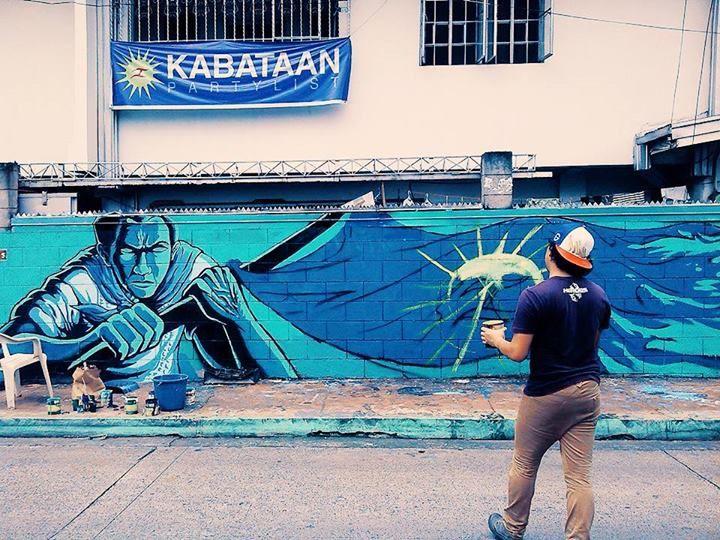 Ang gerilya via ang gerilya 39 s fb page andres bonifacio for Bonifacio mural
