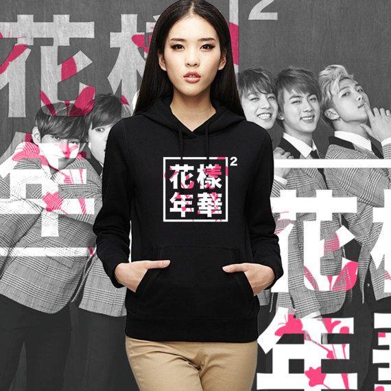 BTS  BANGTAN boys hoodie flower logo Young Forever Jung kook