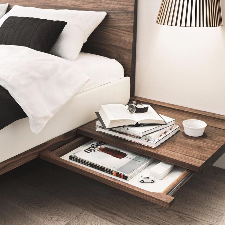 Riletto Bedside Table Wall Mounted Wooden Manufacturer Team7moebel Design By Kai Stania 2008 Find More On Archipr
