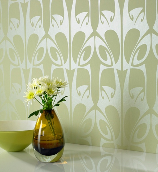 Best Wallpaper Images On Pinterest Damasks Damask Wallpaper - Green and brown wallpaper