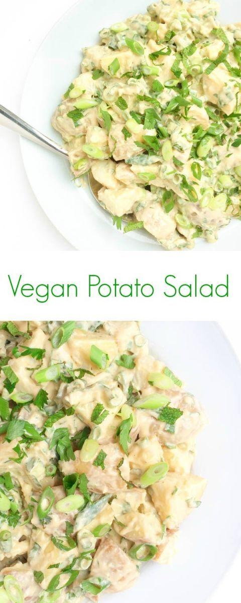 Vegan Potato Salad with Hummus - The Lemon Bowl