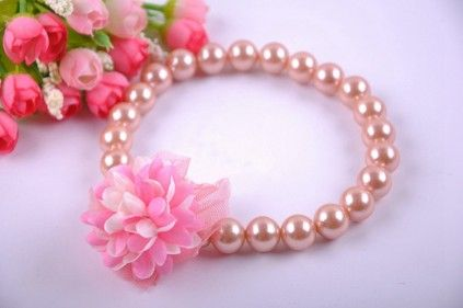 Shop online in India the gorgeous infant necklace made with beautiful brown colored beads.