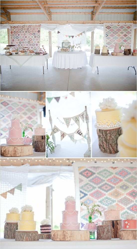 vintage wedding ideas ~ great to use family heirloom/vintage quilts