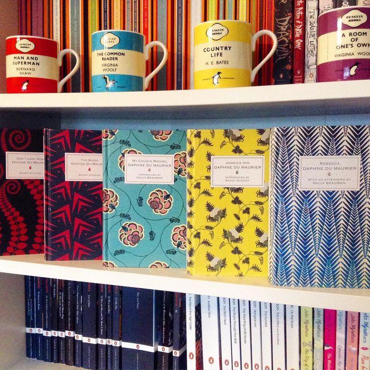 """#sundayshelfie #shelfiesunday featuring Daphne du Maurier Virago Modern Classics Designer editions, including My Cousin Rachel, which is back in stock! I…"""