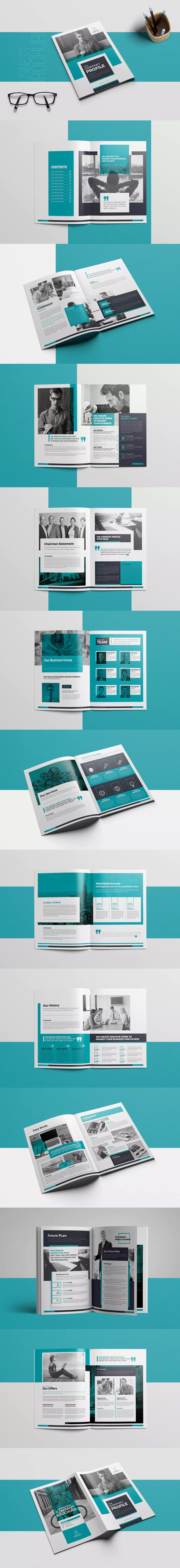 Company Profile Template InDesign INDD A4 & US letter Size