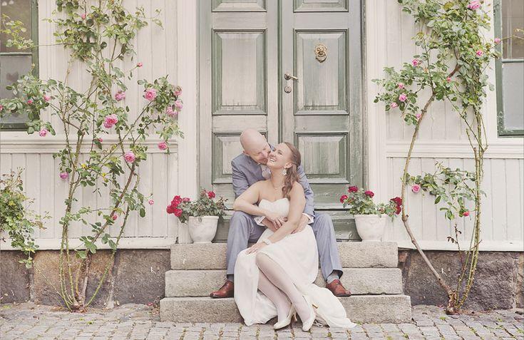 Wedding Photo. Linda og Lars fikk sine bilder fra bryllupet i gamlebyen i Fredrikstad.