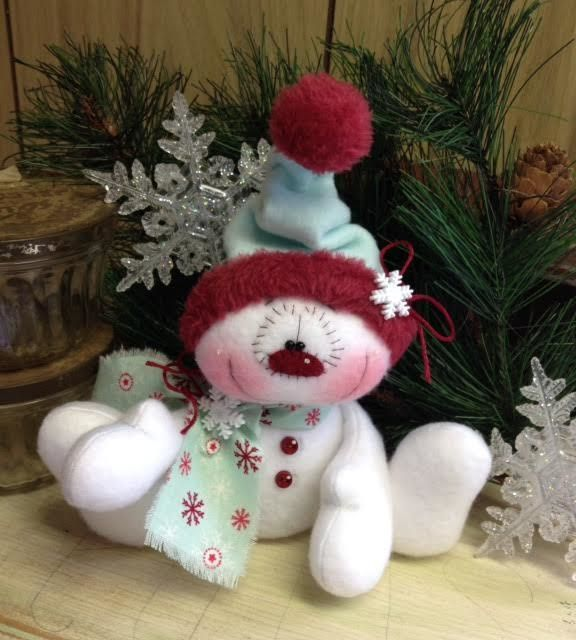 "Primitive HC Holiday Christmas Doll Snowman Snowflake Snow 7""  Super Cute! #IsntThatCute #Christmas"