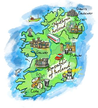 INTERACTIVE Map of Ireland Attractions/Must-sees