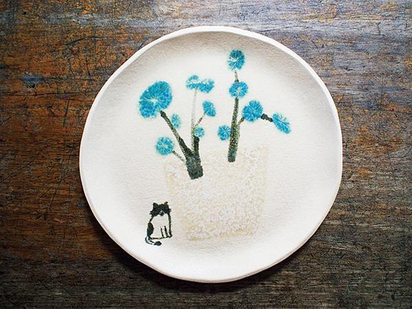 無聲風景。家中院子中種植銅錢草,薛慧瑩取其葉脈拼湊成想像中的樹木。