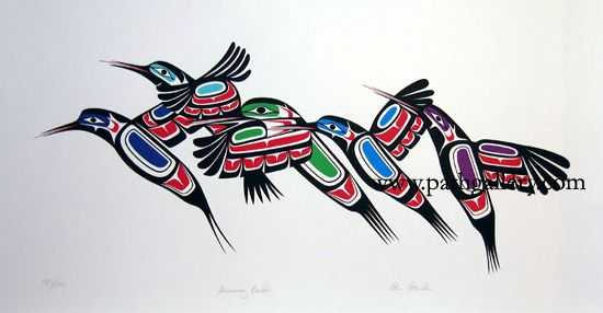 'Hummingbirds' - Northwest Coast Native Art (by Ben Houstie)