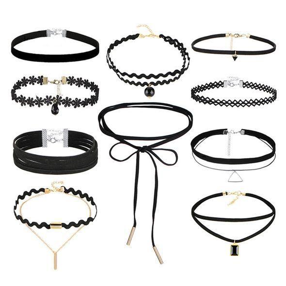 SET-SONDERPREIS: Choker Halsband. Immernoch VOLL im TREND. #choker http://style4-nature.de #tierschutz #style