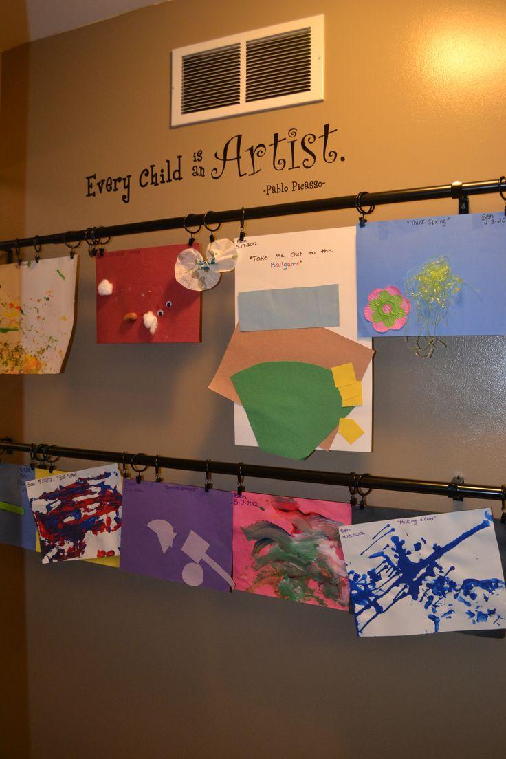 Displaying kids artwork--success!