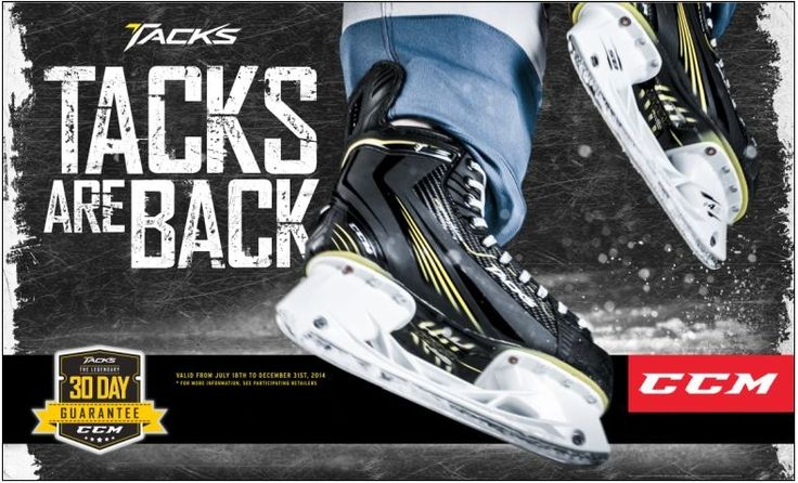 If you are not satisfied with your Tacks skates within 30 days from purchase, get your money back with the 30 day guarantee.*  More details available in store. http://www.prohockeylife.com/store-locator-page-5