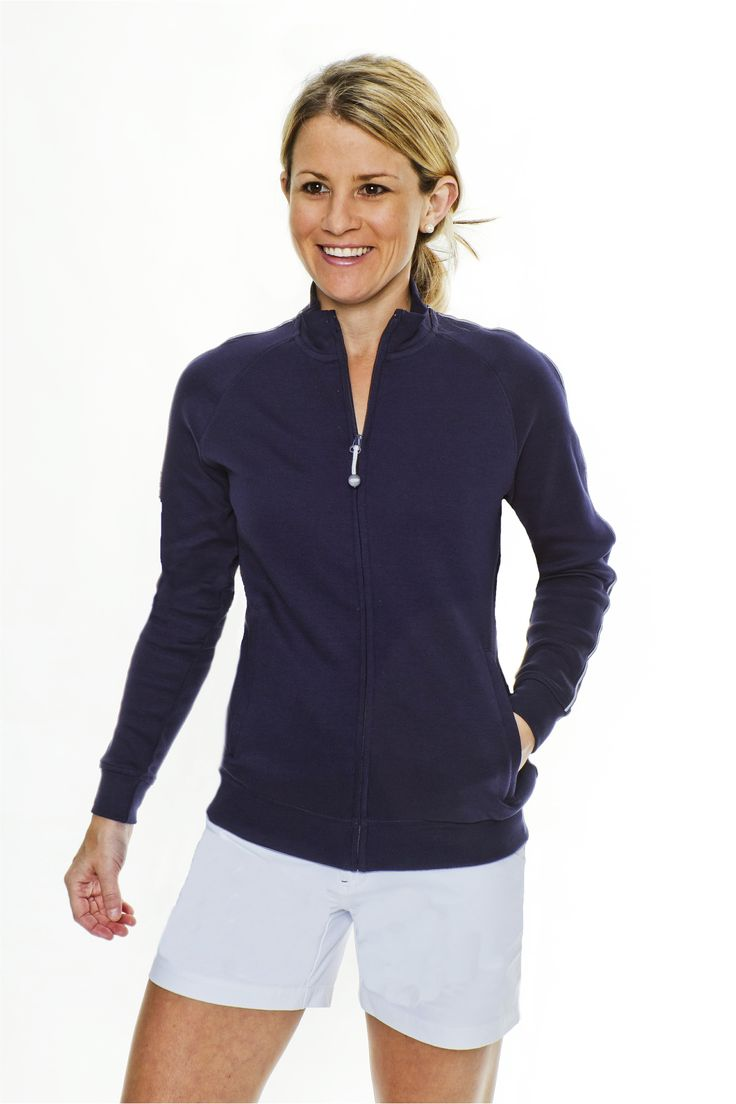 Carnoustie Pima Cotton Jacket | Women's Golf Apparel by ...