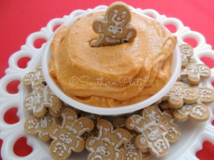 Delicious pumpkin dip...serve with Ginger Snaps, Graham Crackers ...