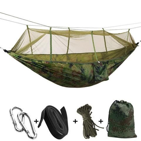 Double Hammock with Mosquito Net – Nearest Gift Shop - It's great lying in a hammock under a starry night, enjoy the cool fresh breeze, listening to our favorite music. Our camping hammock, give you a mosquito-free experience. #outdoors #camping #camper #travelling  #getoutdoors #backpackers #backpack #travel #outdoorshop #green #bacpacking #hiking #camp #camplife