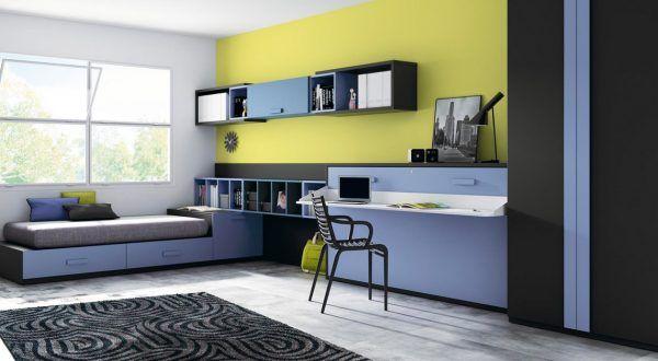 Escritorios en dormitorios juveniles con muebles de for Crear muebles juveniles