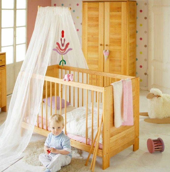 Babybett Kinderbett 60x120 cm Massivholz Erle Niklas