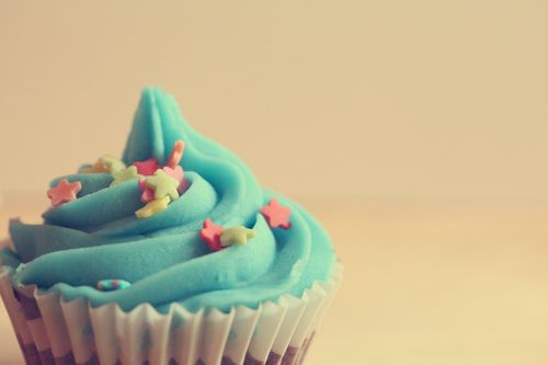 Cupcake Up Close With Plain Background Crazy For