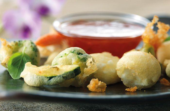 Friterade grönsaker – Tempura med het dippsås
