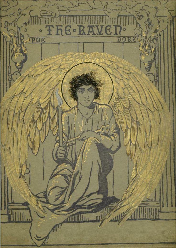 Cover for Edgar Allan Poe'sThe Raven by Paul Gustave Doré,1882.