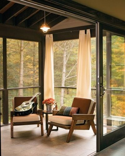 Minimalist sun room design.  Brings the outdoors in.  more sun rooms.  http://thegardeningcook.com/sun-rooms/