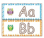 Colorful Owl Word Wall Letters product from Swift-In-Second on TeachersNotebook.com