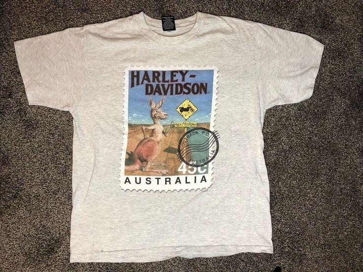 HARLEY DAVIDSON Australia 1996 Tshirt Vtg 90s Shirt Motorcycle Fraser Biker XL #HarleyDavidson #BasicTee #australia #outback #vtg #hD 3Harleydavidson