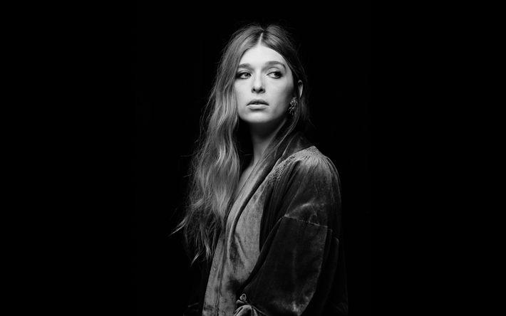 Download wallpapers Kelsey Byrne, 4k, Verite, 2018, beauty, american singer, monochrome