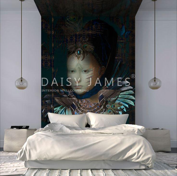 DAISY JAMES #Wallcovering #bedroom #interiordesign.