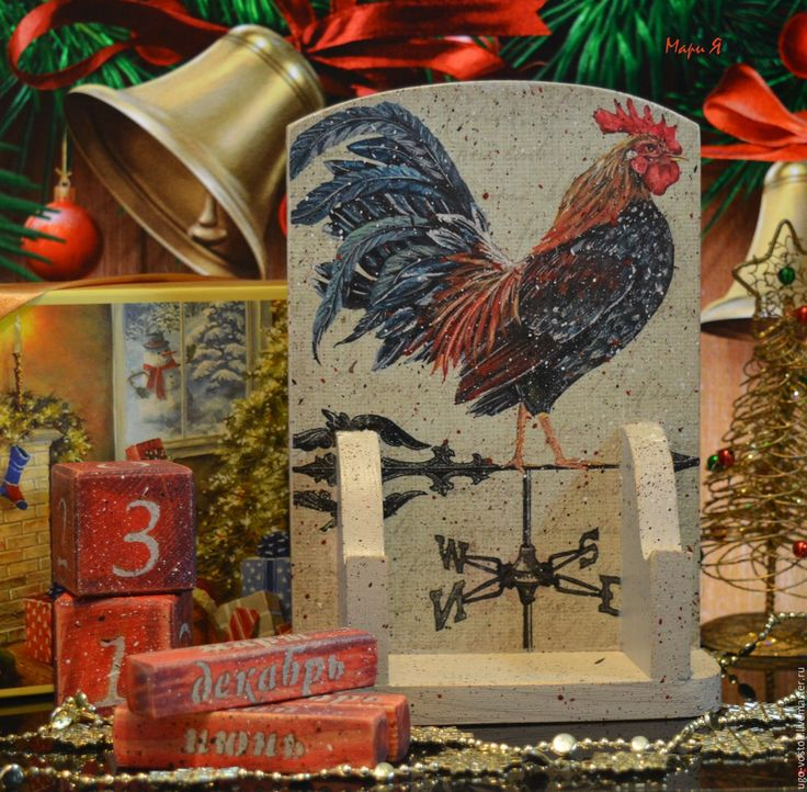 Купить Деревянный вечный календарь,  Петух - талисман удачи - подарки фэн шуй
