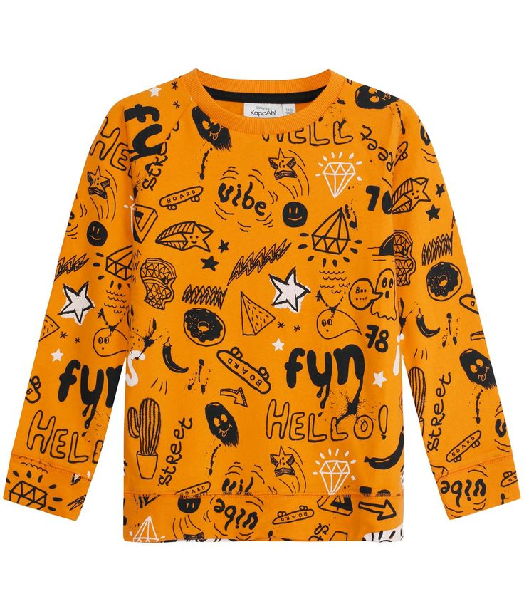 Sweatshirt, Orange, Kids - KappAhl