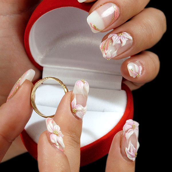 find this pin and more on bridal wedding nail art
