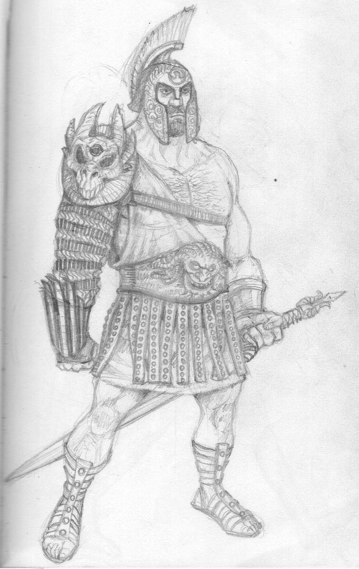 Sketch of a fantastic warrior