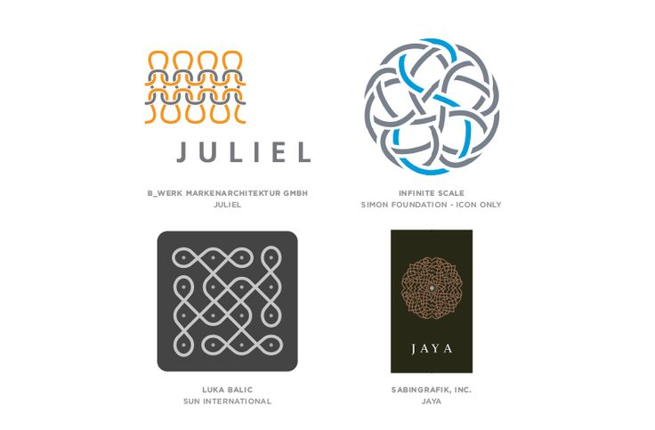 """Graphic design trends 2015 according to Logo Lounge: """"Knit.""""Graphic design trends 2015 according to Logo Lounge: """"Knit."""""""