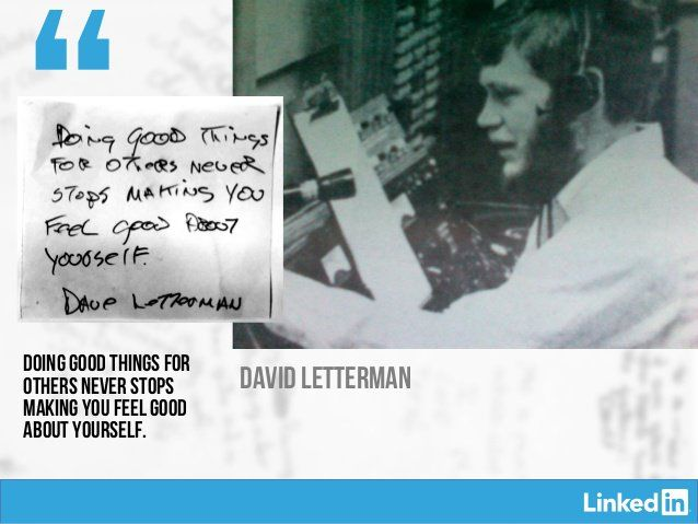 David Letterman, Richard Branson, Arianna Huffington and Others Give Advice to Their 22-Year-Old Selves.