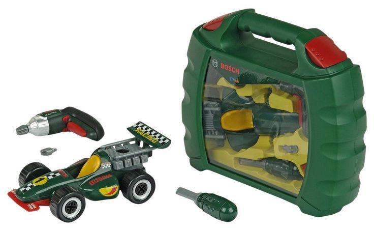 KLEIN 8375 MALETÍN INFANTIL HERRAMIENTAS BOSCH CON COCHE, IndalChess.com Tienda de juguetes online y juegos de jardin