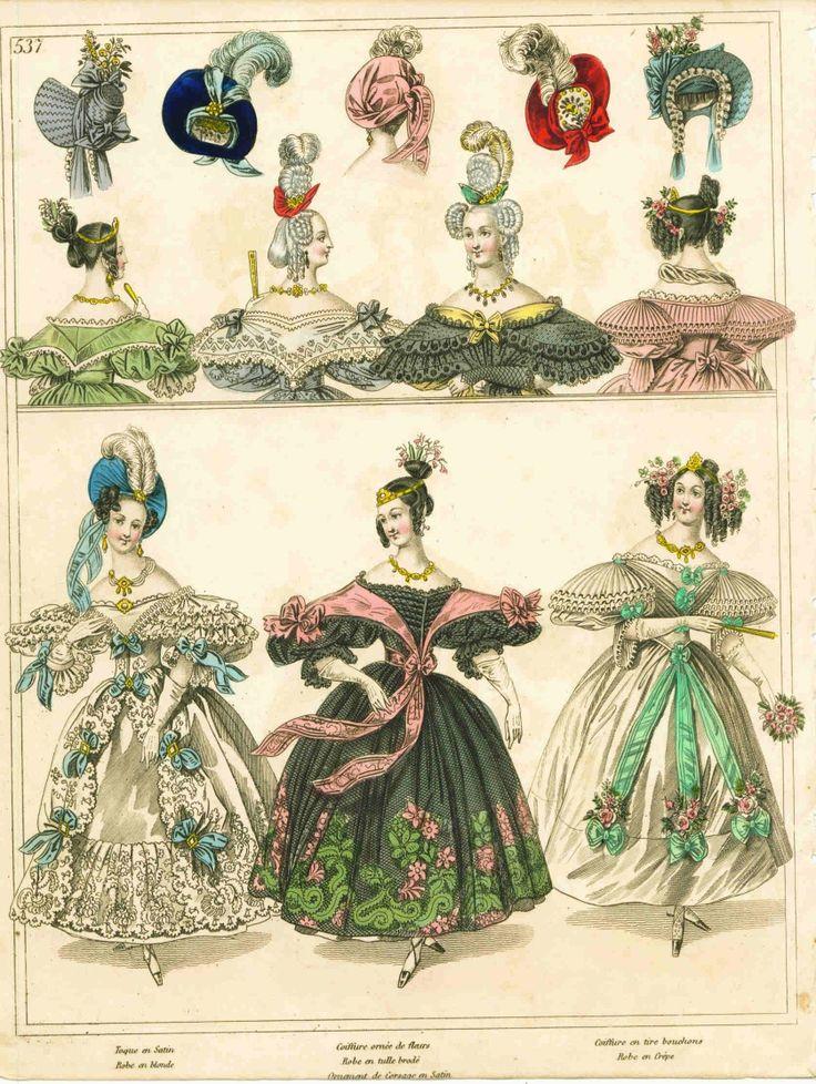 "ca. 1833-5, Modekupfer aus ""La Mode Illustrée"""