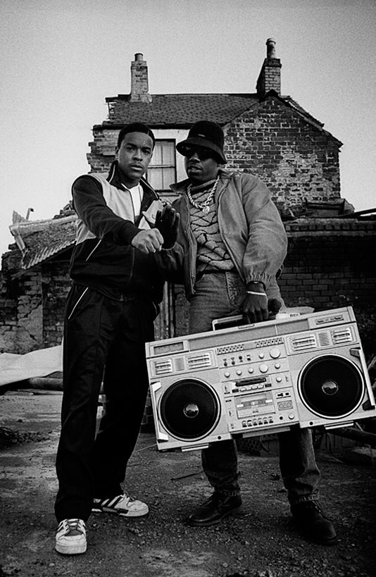 Schoolly D and DJ Code Money. . PSK