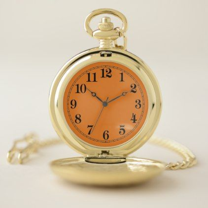 Pocket Watch: Gold This personalized pocket watch - anniversary cyo diy gift idea presents party celebration