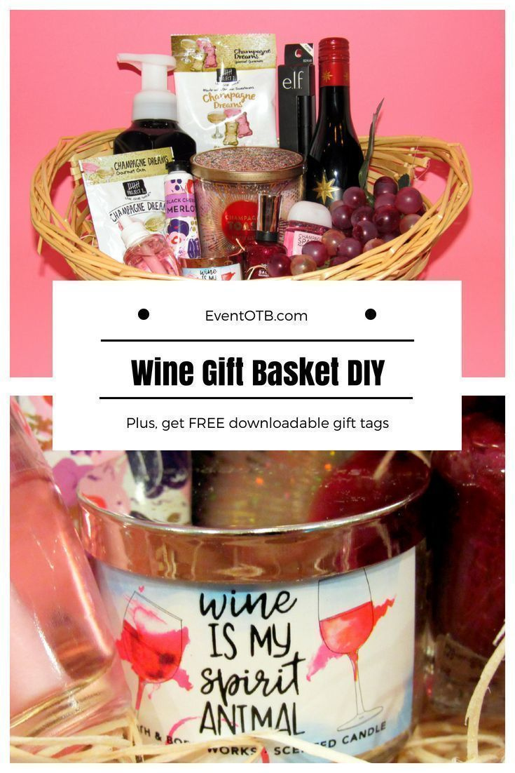 Wine Gift Basket Diy Gift Idea For Wine Lovers Diy Wine Gift