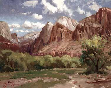 Zion National Park - Thomas Kinkade - World-Wide-Art.com - $520.00 #Kinkade