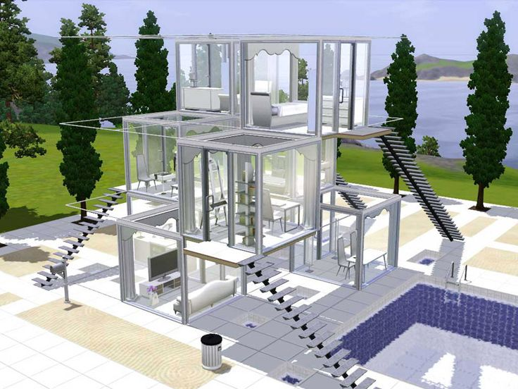Sims 3HouseIdeas  Tube House  Glass Design. 83 best Sims 3 and 4 Houses images on Pinterest