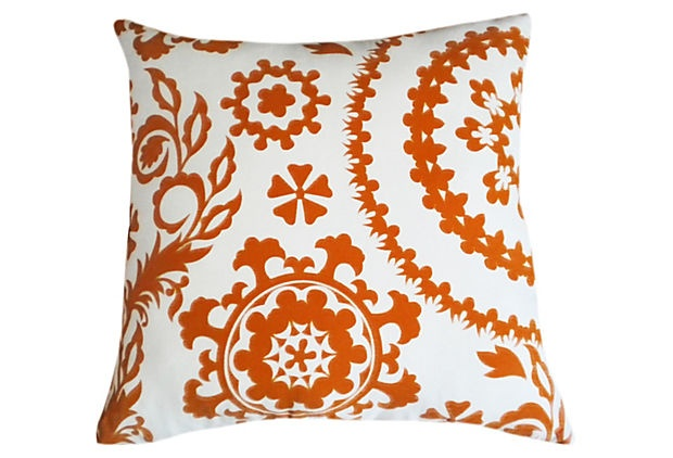 Suzani 20x20 Pillow, orange on OneKingsLane.com