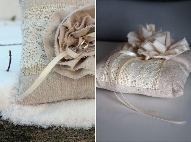 pulmonate's design & architecture blog: Wedding inspiration _ Burlap Ring Pillows