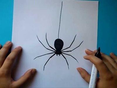 Como dibujar una araña paso a paso | How to draw a spider