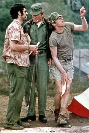 """""""M*A*S*H"""" loved Donald Sutherland in this flick, he was so naughty. The scene where he set up his lawn chair and relaxes with a beer. Then nurses shower wall collapses and he has a front row seat...priceless."""