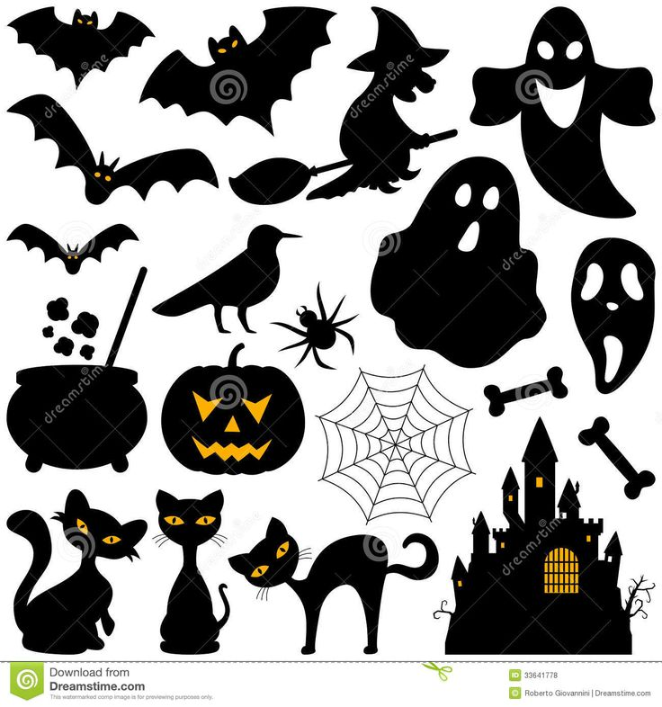 Halloween Silhouettes Elements - Download From Over 36 Million High Quality Stock Photos, Images, Vectors. Sign up for FREE today. Image: 33641778